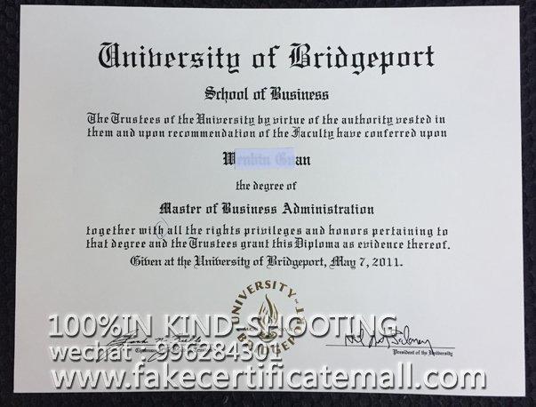 Bridgeport degree certificate-Buy