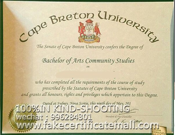where can I get Cape Breton University certificate?-Fake Diploma
