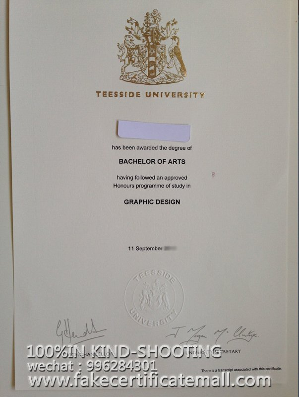 How To Get A Teesside University Degree Certificate Fake Diplomas