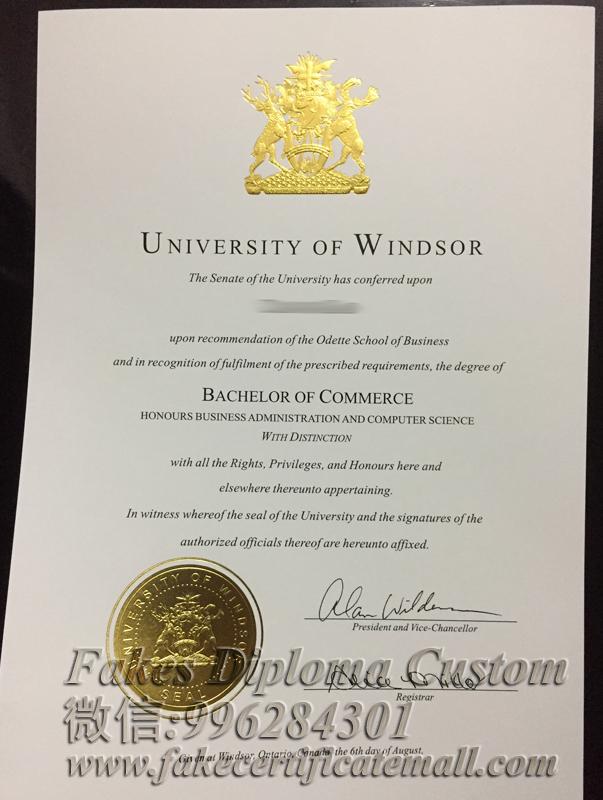 University of Windsor certificate